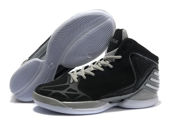 2012 adidas adizero Derrick Rose Dominate Chaussures de basket Noir/gray