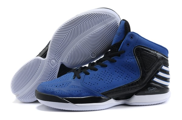 2012 adidas adizero Derrick Rose Dominate Chaussures de basket-ball Bleu/Noir