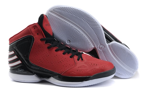 2012 adidas adizero Derrick Rose Dominate Chaussures de basket-Rouge/Noir