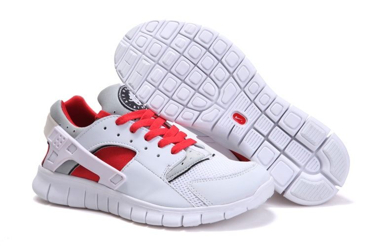 Olympiques de 2012 Hommes Nike Free 4.0 Blanc gray Rouge