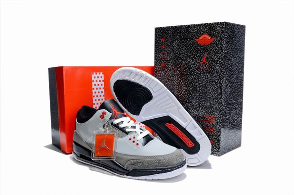 2012 Air Jordan 3 III Retro Cement Homme Chaussure Limited Cool grey