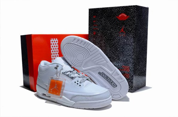 2012 Air Jordan 3 III Retro Cement Homme Chaussure Limited blanc Outlet