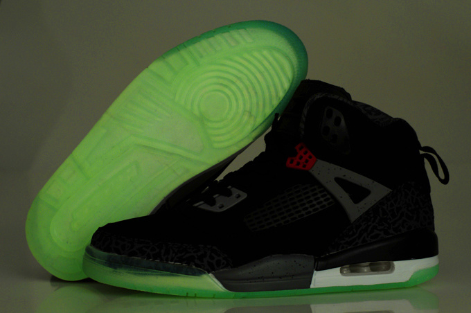 2012 Air Jordan Spizike 3.5 Retro Homme Chaussure Glowing Noir Red Sale