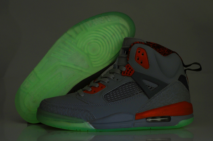 2012 Air Jordan Spizike 3.5 Retro Homme Chaussure Glowing Grey Orange