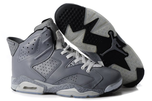 2012 New Air Jordan 6 VI Retro Homme Chaussure Cool Grey Leopard pas cher Outlet
