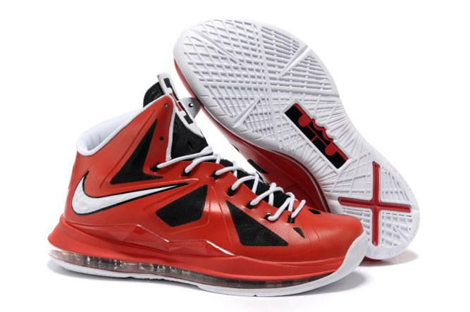 2013 Discount Nike Zoom Lebron 10 X Homme Chaussure pas cher Sale Noir Red