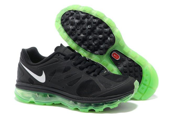 2013 For Sale Air Max 2012 Femme Chaussure Breathable en ligne Noir Green blanc