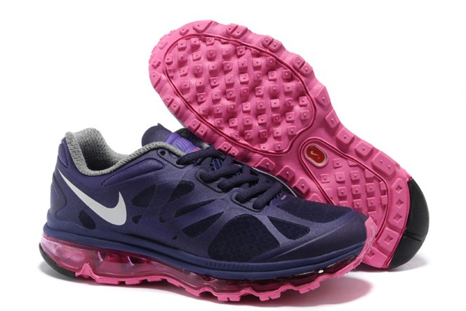 2013 For Sale Air Max 2012 Femme Chaussure Breathable en ligne Dark Bleu Rose Red