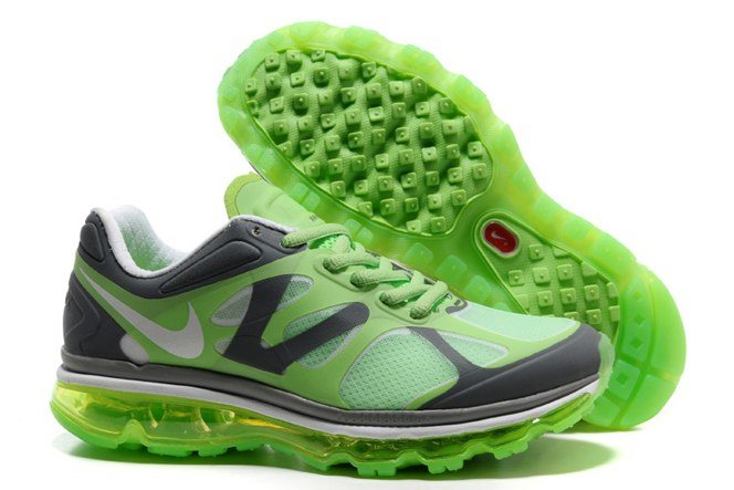 2013 For Sale Air Max 2012 Femme Chaussure Breathable en ligne Green Grey