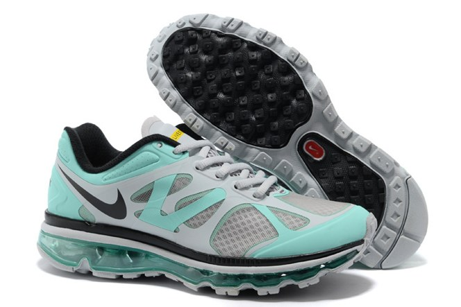 2013 For Sale Air Max 2012 Femme Chaussure Breathable en ligne Green Grey Noir