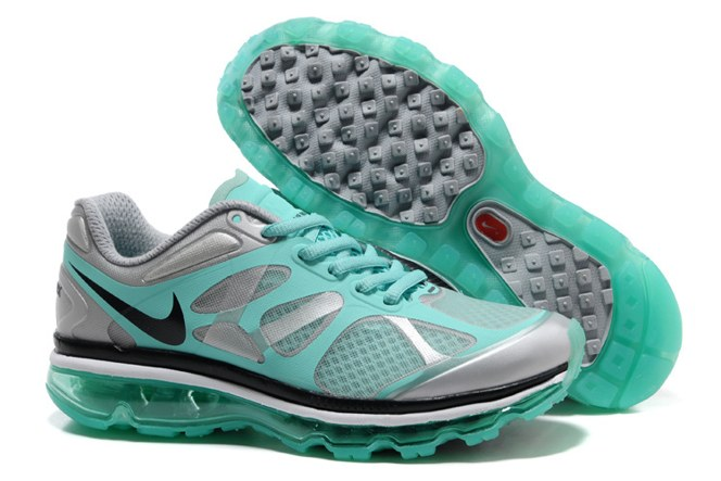 2013 For Sale Air Max 2012 Femme Chaussure Breathable en ligne Green Sliver Noir