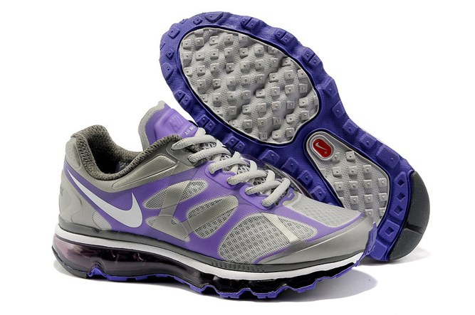 2013 For Sale Air Max 2012 Femme Chaussure Breathable en ligne Purple Grey
