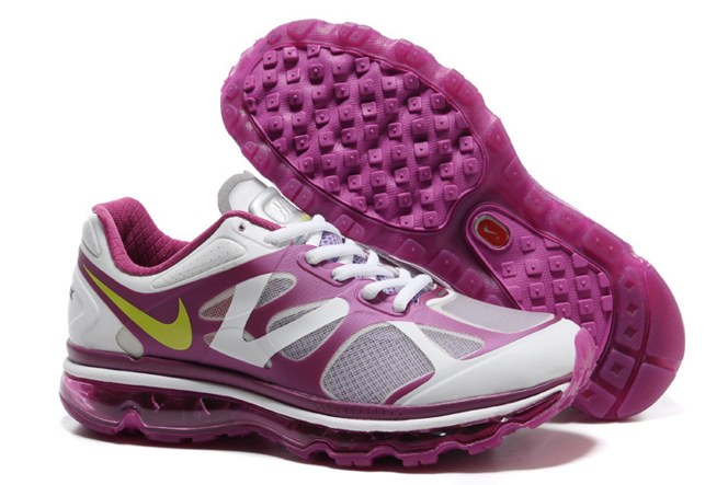 2013 For Sale Air Max 2012 Femme Chaussure Breathable en ligne Purple blanc Yellow