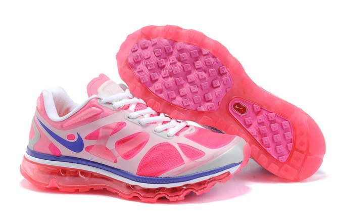 2013 For Sale Air Max 2012 Femme Chaussure Breathable en ligne Red Bleu