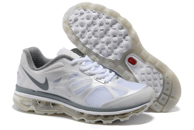 2013 For Sale Air Max 2012 Femme Chaussure Breathable en ligne Sliver blanc Grey
