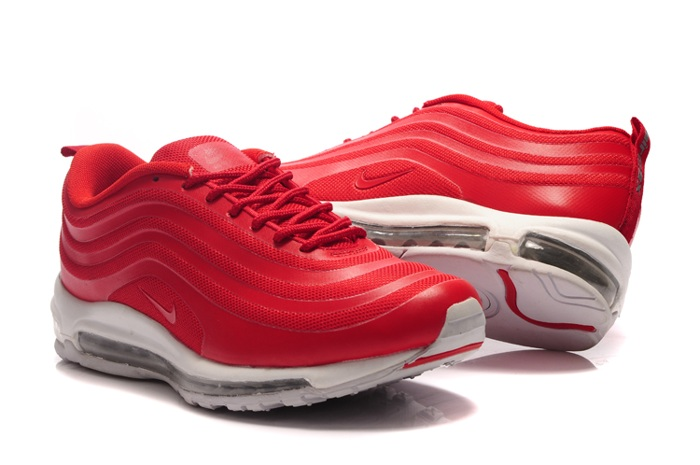 2013 New Nike Air Max 97 Men Chaussure pas cher Sale en ligne Red