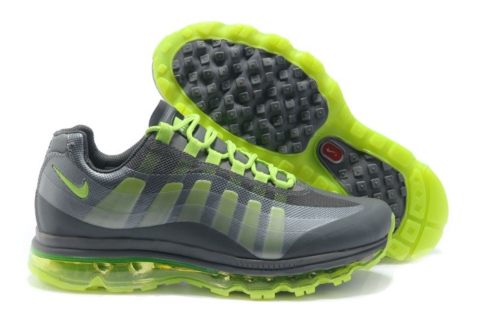 2013 Nike Air Max 95 360 Homme Chaussure Grey Green en ligne pas cher