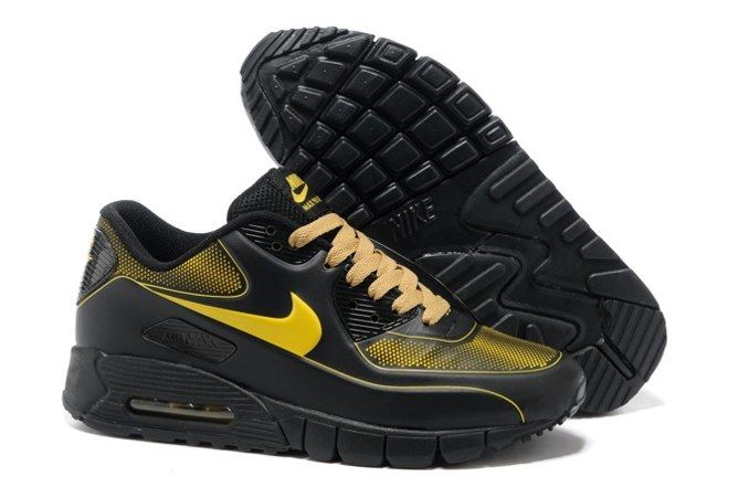 2013 en vente Air Max 90 Current VT LSR Homme Chaussure Noir Yellow