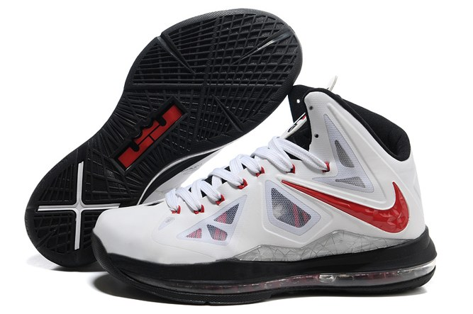 2013 Outlet Nike Zoom Lebron 10 X Homme Chaussure en ligne blanc Noir Red