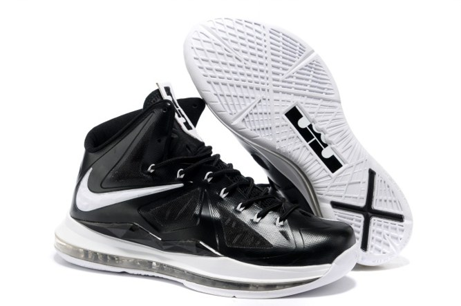 2013 Outlet Nike Zoom Lebron 10 X Homme Chaussure To Buy Noir blanc