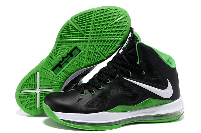 2013 Outlet Nike Zoom Lebron 10 X Homme Chaussure To Buy Noir blanc Green