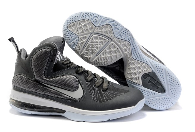 2013 Outlet Nike Zoom Lebron 9 IX Homme Chaussure For Sale Grey blanc