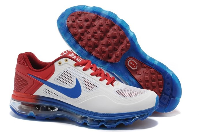 2013 Outlet To Buy Nike Air Max 2013 Men Chaussure blanc Red Bleu