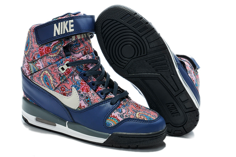2014 Nike Air Revolution Sky High Femmes Bleu Rose KDLP0026
