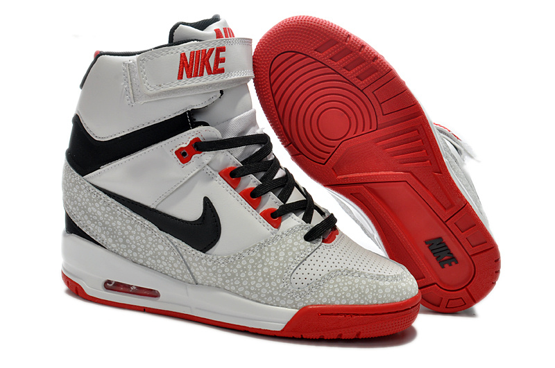 2014 Nike Air Revolution Sky High Femmes Blanc Noir Rouge KDLP0028
