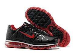 Air Max 2010 Leather Homme Chaussure pas cher Sale Noir red