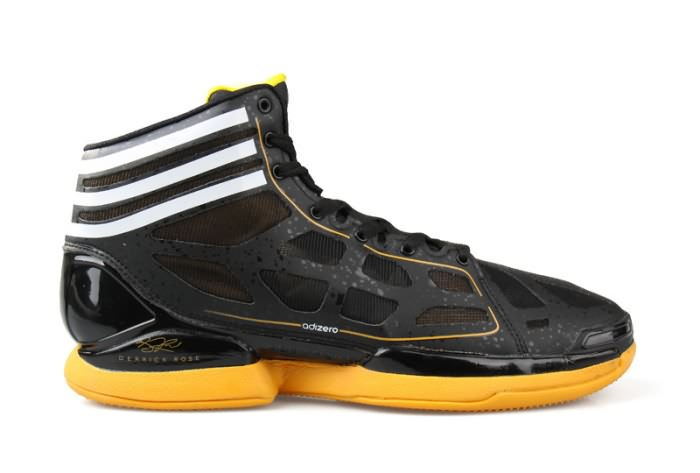 Adidas adizero Crazy Light NBA 2011 MVP Derrick Rose Chaussures de basket Noir/Jaune