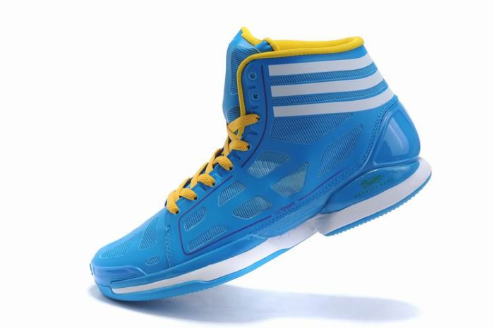 Adidas adizero Crazy Light NBA 2011 MVP Derrick Rose Chaussures de basket-ball Bleu Royal/Jaune