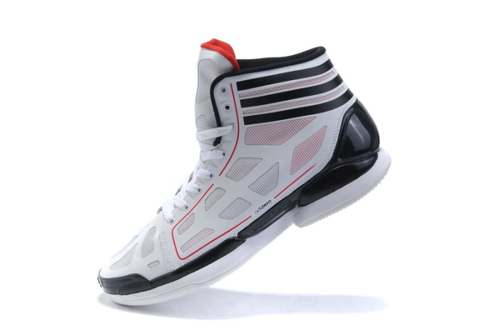 Adidas adizero Crazy Light NBA 2011 MVP Derrick Rose Chaussures de basket-Blanc/Noir/Rouge