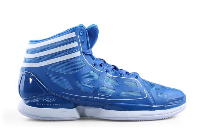 Adidas adizero Crazy Light NBA 2011 MVP Derrick Rose Chaussures de basket-ball en Bleu/Blanc