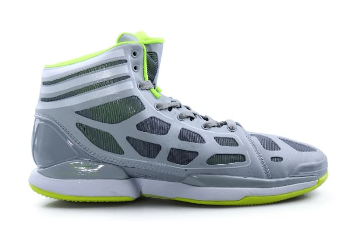 Adidas adizero Crazy Light 2011 NBA MVP Derrick Rose Chaussures de basket-ball en gray/vert