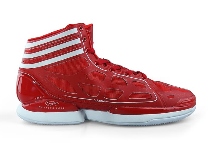 Adidas adizero Crazy Light NBA 2011 MVP Derrick Rose Chaussures de basket-ball en rouge/blanc