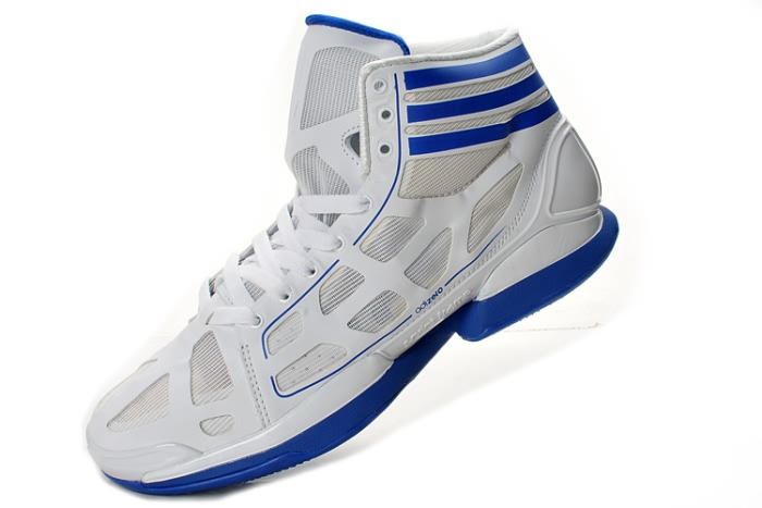 Adidas adizero Crazy Light NBA 2011 MVP Derrick Rose Blanc/Bleu Chaussures de basket-ball