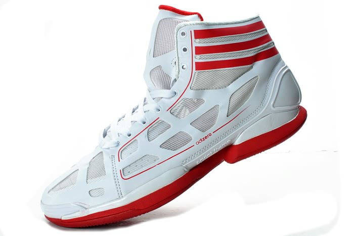 Adidas adizero Crazy Light NBA 2011 MVP Derrick Rose Blanc/Rouge Chaussures de basket-ball