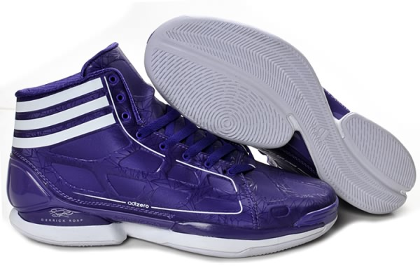 Adidas adizero Crazy Light 8810 cuir Derrick Rose Chaussures de basket-Violet