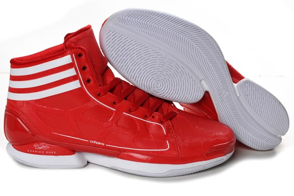 Adidas adizero Crazy Light 8810 cuir Derrick Rose Chaussures de basket-Rouge