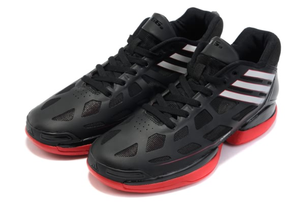 Adidas adizero Crazy Light Low Derrick Rose Chaussures de basket Noir/Blanc/Rouge