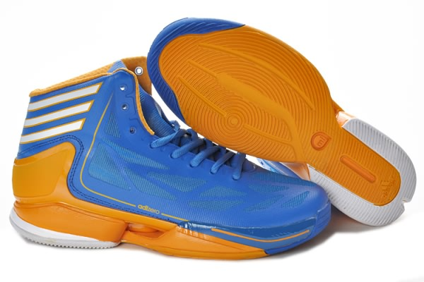 Adidas Adizero Crazy Light 2 pour Derrick Rose Chaussures de basket-ball Bleu/Jaune