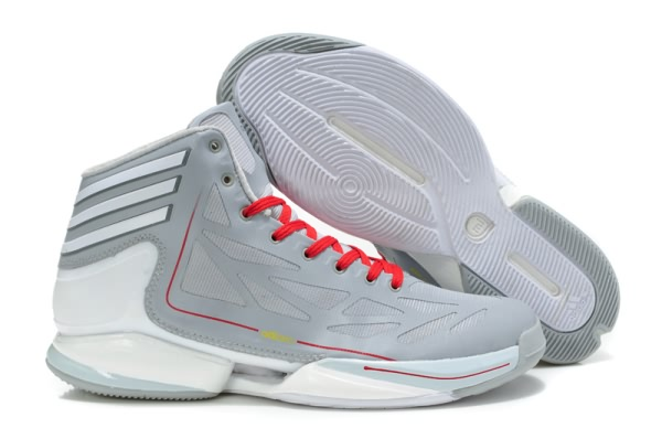 Adidas Adizero Crazy Light 2 pour Derrick Rose Chaussures de basket-Blanc/gray/Rouge