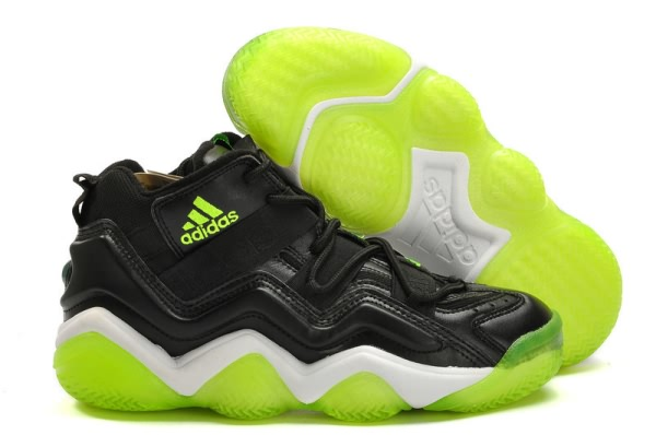 Adidas Top Ten 2000 noir/fluorescence verte Chaussures de basket-ball