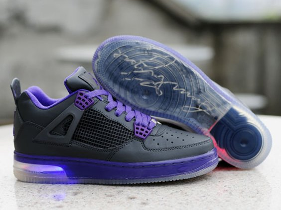 Air Jordan 4 IV Retro 2012 New Lightening Homme Chaussure Noir Purple