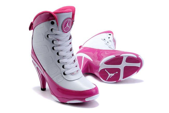Air Jordan 9 IX Femme Heels Ankle Boots 2012 blanc Pink Discount for Sale
