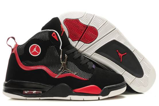 Air Jordan TC Men Chaussure Noir Red Gros
