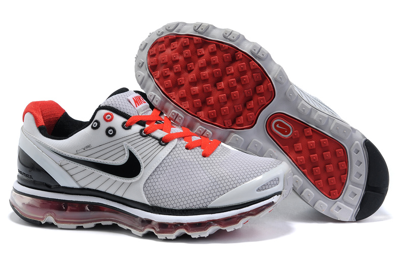 Air Max 2010 Netty Homme Chaussure pas cher grey Noir red