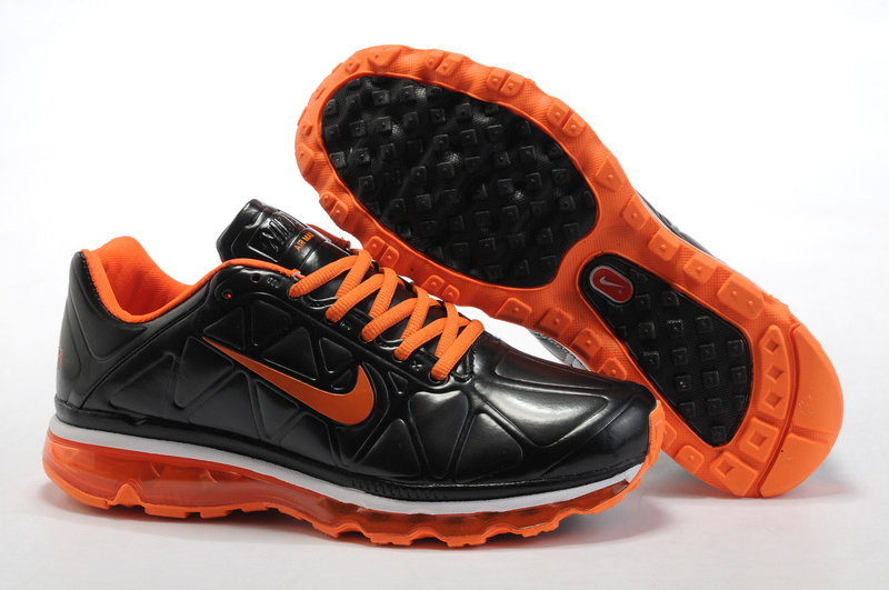 Air Max 2011 Leather Homme Chaussure Gros Noir orange