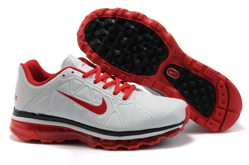 Air Max 2011 Leather Homme Chaussure Gros blanc Noir red